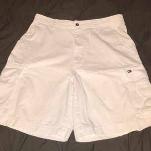 "Men's Tommy Hilfiger white cargo shorts 🩳 36x9.5"""